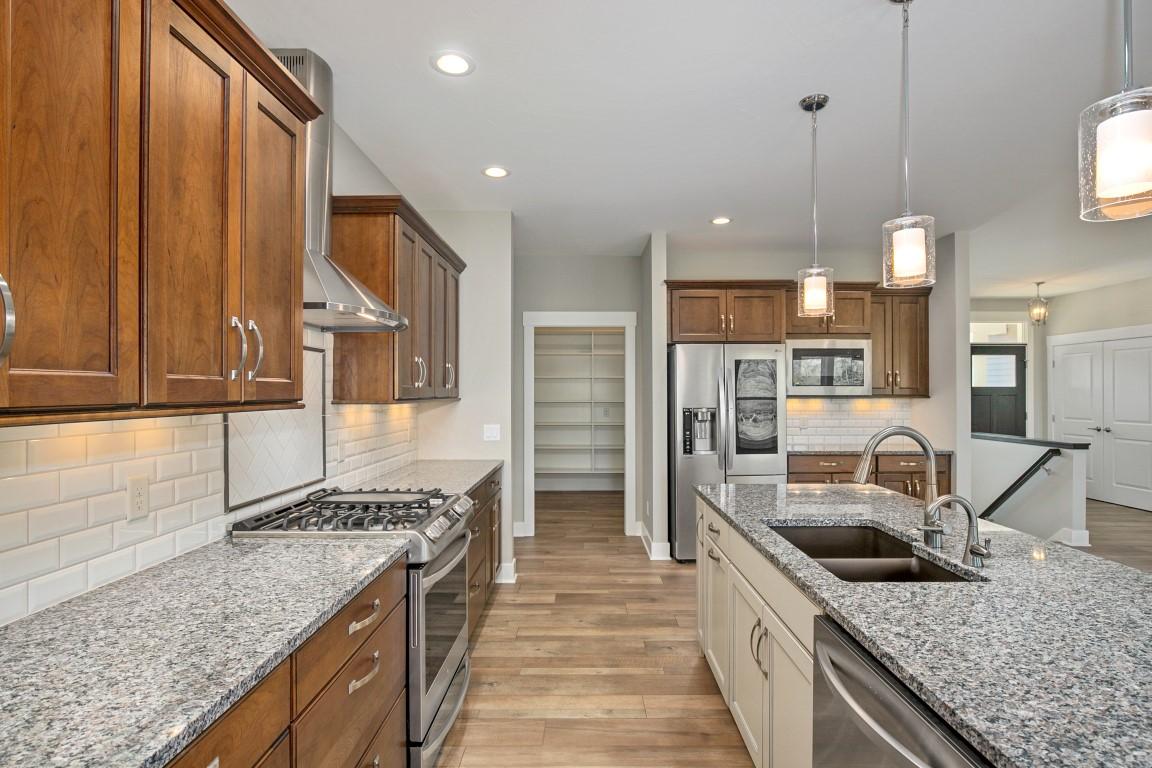 huron floorplan kitchen heartland builders